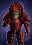 Mass Effect: Urdnot Wrex by Lukael-Art