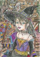 Her Magic (ACEO) by Keyshe54