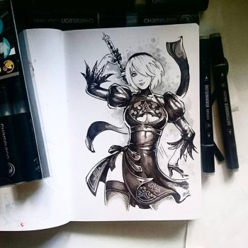 Instaart - 2B by Candra