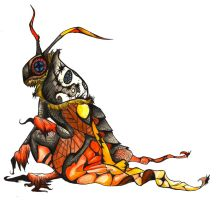 Deaths head hawk moth by Raiid