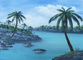 Paysage tropical by Swindy
