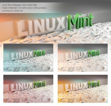 Linux Mint Wallpapers 1920x1080 (Blender/Cycles) by hxw-araa