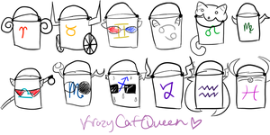 Buckets by KrazyCatQueen