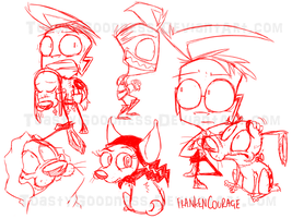 FC Sketchies by ToastyGoodness