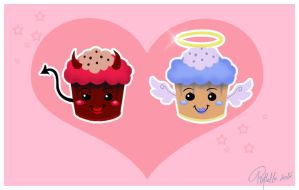 Devil and Angel Muffins by Refielle