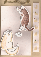 Barley and Benji Card by FelineMyth