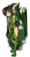 LoL - Akali Chibi by Sickly-Sweet-Poison