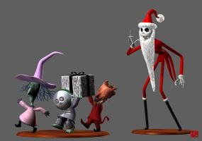 JACK SKELLINGTON and MEAN TRIO by GEKIMURA