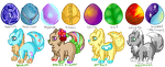Cheap OTA dragon eggs and puppies (OPEN) by plexusdynasty
