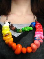 Jelly beans necklace by Mayweather