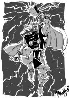 sketch for Thor by mchaoo