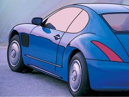 Cell-Shaded Bugatti by tehl337