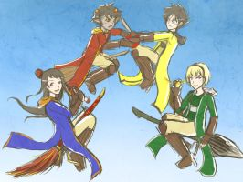 HPHSTC- Quidditch Captains by ChibiEdo