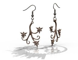 Flora with Fish Hooks - Bronze by improbablecog
