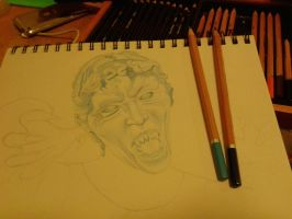 Weeping Angel WIP by ianhislopschin