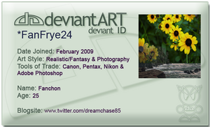 Deviant Art ID Card by FanFrye24