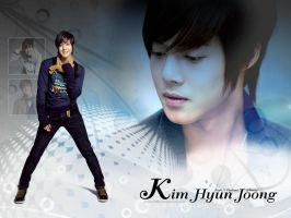 Wallpaper Kim Hyun Joong by vizadesign