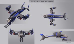 UEF T3 gunship MK II fnished by Avitus12