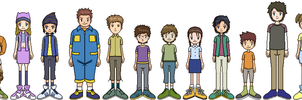 Cast Of Digimon Frontier Full Bodys by alishokie