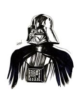 Darth Vader Sketch by LostonWallace