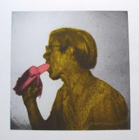 Andy Warhol profile 2 by Ozotje