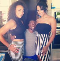 Kevin Hart with 2 tall basketball players by lowerrider