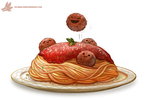 Daily Paint #1109. Spagooti by Cryptid-Creations