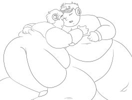 Quick Man and Elec Man - Fat Sleepies by sax-loves-fat
