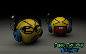 Funny Emoticon Wallpaper by yiyo-marcelo