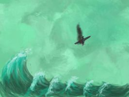 Speedpaint: Falling plane by SkyWookiee