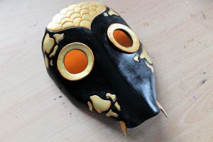 Black and Gold Koi Fish Leather Mask by Masktastic