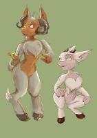 Tunc and Aria by coffinberry