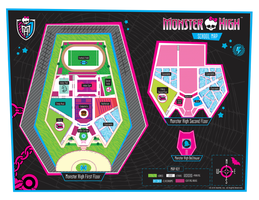Monster High School Map by Saruseptember