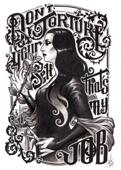 Don't torture yourself, Gomez. That's my job by Medusa-Dollmaker