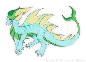 Water dragon adoptable - CLOSED by Nordeva