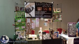 Matsuricon2014 Lillys Art Table by lilly-peacecraft