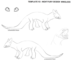 Night fury Template v2 by Tellurist