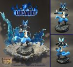 Clay Figure: Lucario by DinoeArchelon