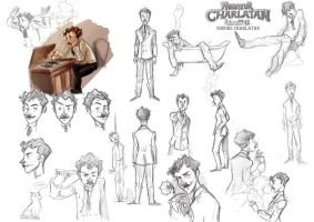 Model Sheet - Charlatan by DrSlug