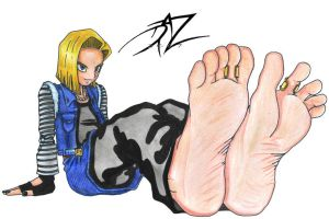 android 18 feet by ubelia