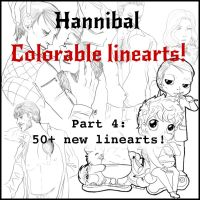 Hannibal - Colorable linearts part 4 by FuriarossaAndMimma