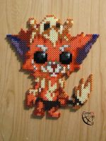Gnar League of Legends Perler Beads by Cimenord