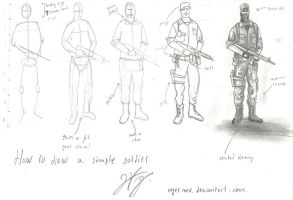 Tutorial : How to draw a simple soldier by RogerMV