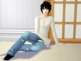 L Sims 2, Death Note 1 by RavenRevenged