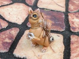Brass Nut Steampunk Squirrel by MysticReflections