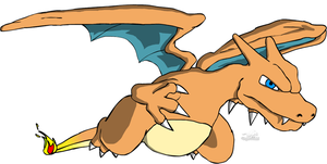 Charizard in flight by Dragon-Minded