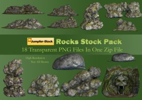 Rocks PNG Stock Pack by Roy3D