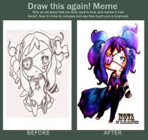 Before and after meme Nova by RaelXArts