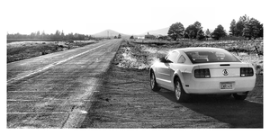 Mustang on Route 66 by tezzan