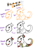 Halloween doodles by MikeyOpossum